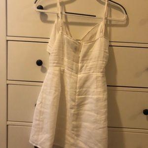 378f7b97dd Reformation Dresses - Reformation Sullivan Tie Front Linen Minidress